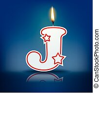 Candle letter J