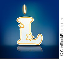 Candle letter L