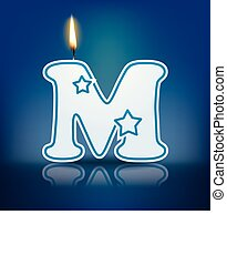 Candle letter M