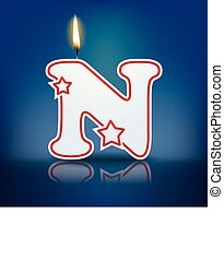 Candle letter N