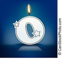 Candle letter O
