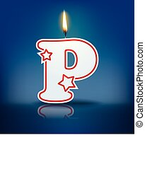 Candle letter P
