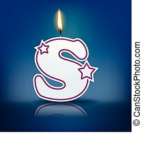 Candle letter S