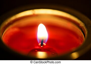 Candle light in a christmas night - Candle warm golden light...