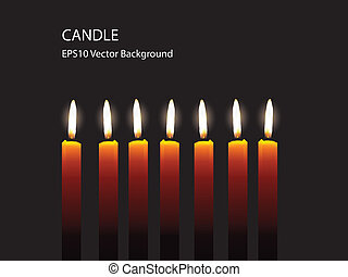 Candle Light On Black Background