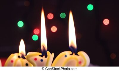 Candle light, romantic holiday