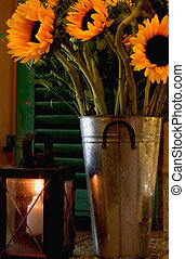 Candle Light Sunflowers - Romantic Light