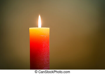Candle light with flame