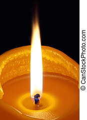 Candle lighted
