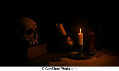 Candle Lights Desk - Historical Setting