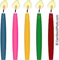 Candle of button for a paper of the various form, size and colour.