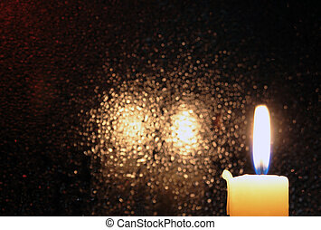 Candle On Dark