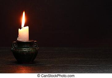 Candle On Dark