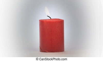 Candle on White