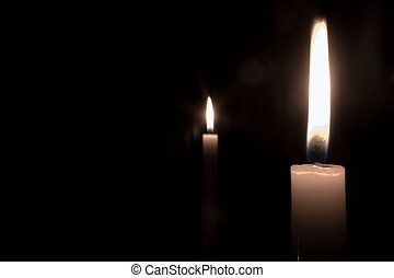 Candle power - Candles burning in the dark