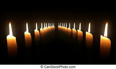 Candle Rows Loop.. CG. HD.