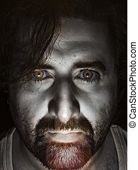 Candle Selfie 2 (version 2) - Face shot using a candle with...