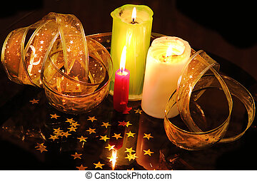 candle still life