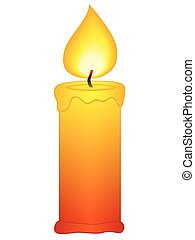 Candle icon on a white background