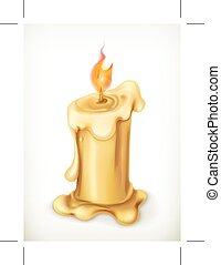 Candle, vector icon