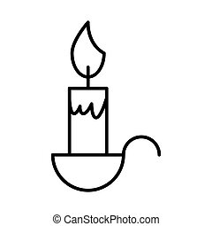 candle vector icon. Flat simple line illustration. Eps 10. Outline design