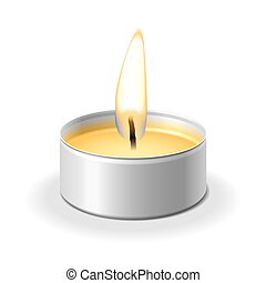 Candle - Vector illustration of a candle
