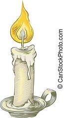 Candle Vintage Sketch