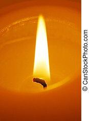 CandleFlame - Extreme close up of burning candle