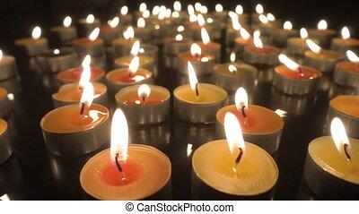 Many burning candles - Candlelight - Many burning candles...