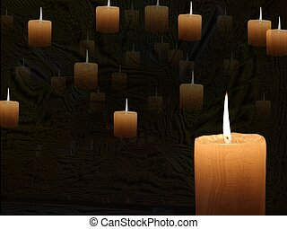 Candlelight on abstract background