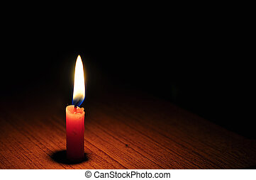 candlelight on table
