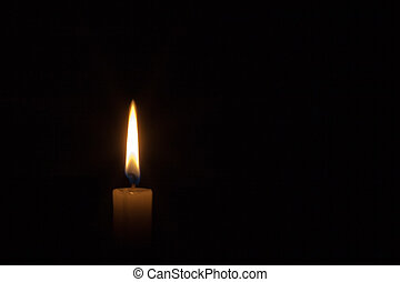 Candlelight - Single candlelight in the dark