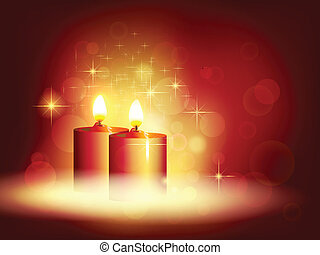 Candlelight. Vector illustration