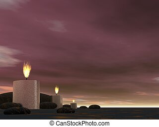 Candles - 3D render