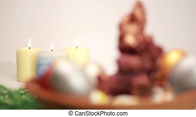 Candles and the Easter Bunny