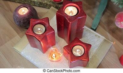 Candles around the Christmas tree