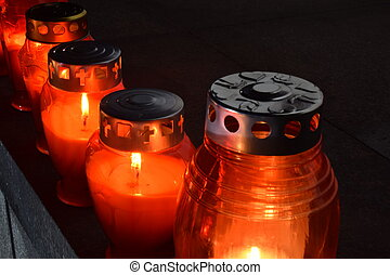 candles at the memorial