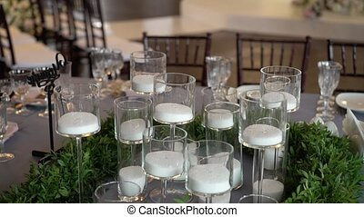 Candles at the table