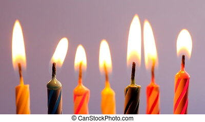 Candles Blown Out, close up