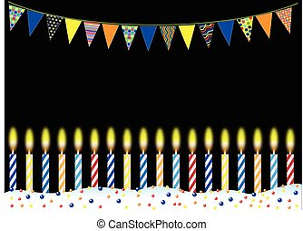 CANDLES BUNTING