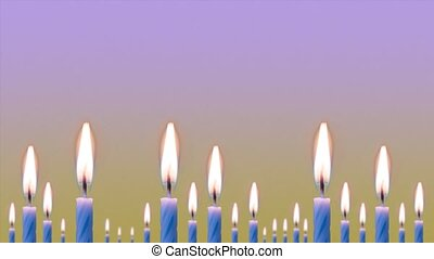 Candles burn quickly in timelapse