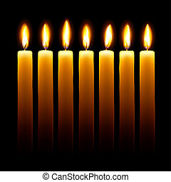 Candles. - Burning candles on black background.