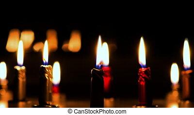 candles burning timelapse
