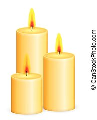candles - Candles on a white background. Vector illustration...