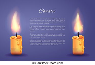 Candles Decoration Poster Vector Illustration - Candles...