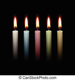 Candles Flame Fire Light Isolated Background - Candles Flame...