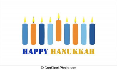 candles for the Jewish holiday hanukkah