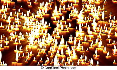 Candles Forming Religious Cross