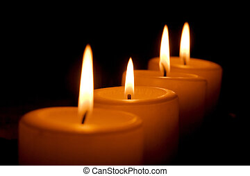 Candles - Four burning candles