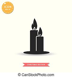 Candles icon simple flat style vector illustration.